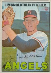 1967 Topps Baseball Cards      019      Jim McGlothlin
