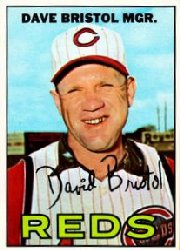 1967 Topps Baseball Cards      021      Dave Bristol MG RC