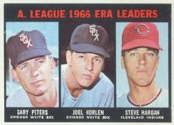 1967 Topps Baseball Cards      233     AL ERA Leaders-Gary Peters-Joel Horlen-Steve Hargan