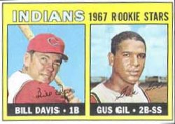 1967 Topps Baseball Cards      253     Rookie Stars-Bill Davis-Gus Gil RC