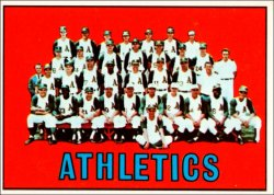 1967 Topps Baseball Cards      262     Kansas City Athletics TC
