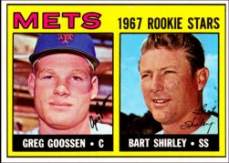 1967 Topps Baseball Cards      287     Rookie Stars-Greg Goosen RC-Bart Shirley