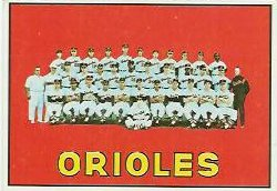 1967 Topps Baseball Cards      302     Baltimore Orioles TC