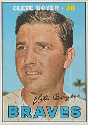 1967 Topps Baseball Cards      328     Clete Boyer UER