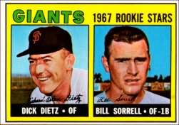 1967 Topps Baseball Cards      341     Rookie Stars-Dick Dietz RC-Bill Sorrell