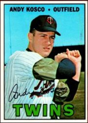 1967 Topps Baseball Cards      366     Andy Kosco