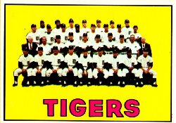 1967 Topps Baseball Cards      378     Detroit Tigers TC UER