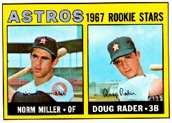 1967 Topps Baseball Cards      412     Rookie Stars-Norm Miller RC-Doug Rader RC