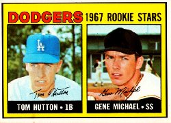 1967 Topps Baseball Cards      428     Rookie Stars-Tom Hutton RC-Gene Michael RC