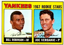 1967 Topps Baseball Cards      442     Rookie Stars-Bill Robinson RC-Joe Verbanic RC