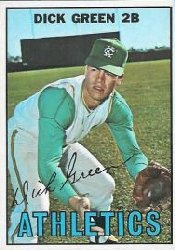 1967 Topps Baseball Cards      054      Dick Green