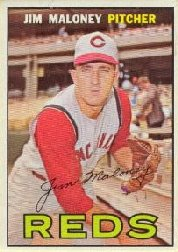 1967 Topps Baseball Cards      080      Jim Maloney