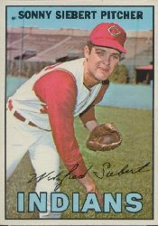 1967 Topps Baseball Cards      095      Sonny Siebert