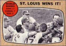 1968 Topps Baseball Cards      157     World Series Game 7-St. Louis Wins it