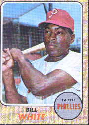 1968 Topps Baseball Cards      190     Bill White