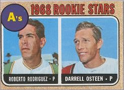1968 Topps Baseball Cards      199     Rookie Stars-Roberto Rodriquez RC-Darrell Osteen