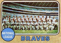 1968 Topps Baseball Cards      221     Atlanta Braves TC