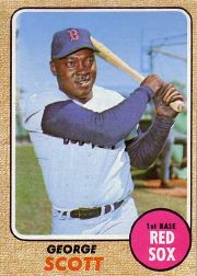 1968 Topps Baseball Cards      233     George Scott