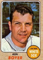 1968 Topps Baseball Cards      259     Ken Boyer