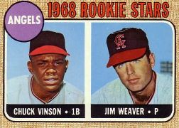 1968 Topps Baseball Cards      328     Rookie Stars-Chuck Vinson RC-Jim Weaver RC