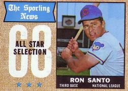 1968 Topps Baseball Cards      366     Ron Santo AS