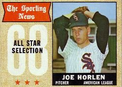 1968 Topps Baseball Cards      377     Joel Horlen AS