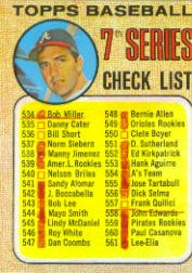 1968 Topps Baseball Cards      518A    Checklist 7/Clete Boyer ERR 539 is AL Rookies