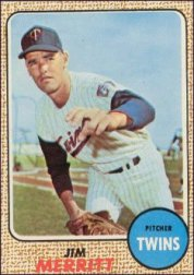 1968 Topps Baseball Cards      064      Jim Merritt