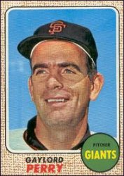 1968 Topps Baseball Cards      085      Gaylord Perry
