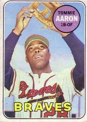 1969 Topps Baseball Cards      128     Tommie Aaron