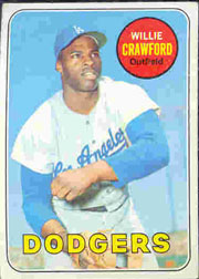 1969 Topps Baseball Cards      327     Willie Crawford