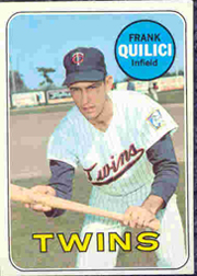 1969 Topps Baseball Cards      356     Frank Quilici