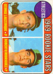 1969 Topps Baseball Cards      358     Rookie Stars-George Lauzerique RC-Roberto Rodriquez