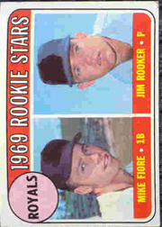 1969 Topps Baseball Cards      376     Rookie Stars-Mike Fiore RC-Jim Rooker RC