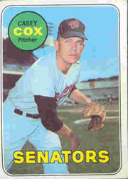 1969 Topps Baseball Cards      383     Casey Cox