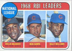 1969 Topps Baseball Cards      004       NL RBI Leaders-Willie McCovey-Ron Santo-Billy Williams