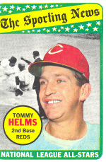 1969 Topps Baseball Cards      418     Tommy Helms AS