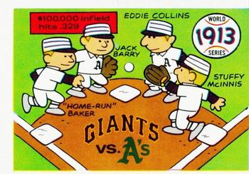1970 Fleer World Series 010      1913 As/Giants