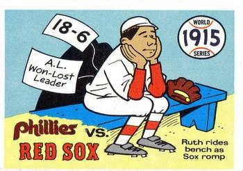 1970 Fleer World Series 012      1915 Red Sox/Phillies#{(Babe Ruth)
