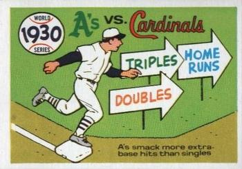 1970 Fleer World Series 027      1930 As/Cardinals
