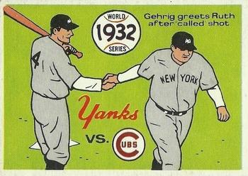 1970 Fleer World Series 029      1932 Yankees/Cubs#{(Babe Ruth#{and Lou Gehrig)