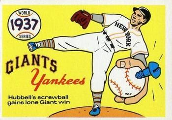 1970 Fleer World Series 034      1937 Yankees/Giants#{(Carl Hubbell)
