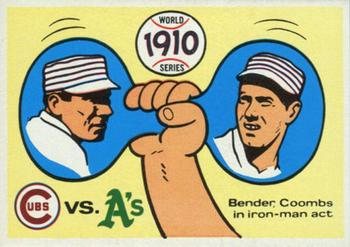 1970 Fleer World Series 007       1910 As/Cubs#{(Chief Bender#{and Jack Coombs)