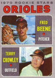 1970 Topps Baseball Cards      121     Rookie Stars-Fred Beene RC-Terry Crowley RC
