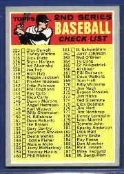 1970 Topps Baseball Cards      128A    Checklist 2 ERR 226 is R Perranoski without Period