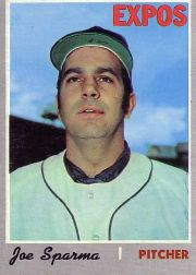 1970 Topps Baseball Cards      243     Joe Sparma