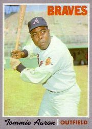 1970 Topps Baseball Cards      278     Tommie Aaron
