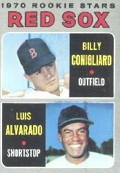 1970 Topps Baseball Cards      317     Rookie Stars-Billy Conigliaro-Luis Alvarado RC