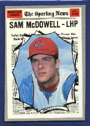 1970 Topps Baseball Cards      469     Sam McDowell AS