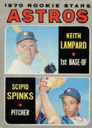 1970 Topps Baseball Cards      492     Rookie Stars-Keith Lampard RC-Scipio Spinks RC